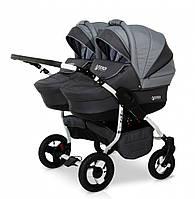 Детская универсальная коляска для двойни Verdi Twin 06 серый
