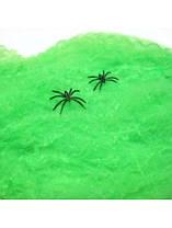 Паутина +2 паука зелёная