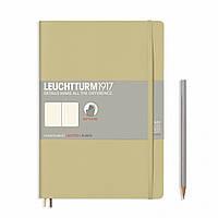 Блокнот Leuchtturm1917 Мягкая обложка Средний (B5) Песочный с Чистыми листами (17,8х25,4 см) (355306), фото 1