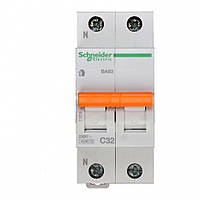 Автоматический выключатель Schneider Electric ВА63 1P+N 63A хар-ка C 4,5кА 11219