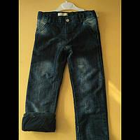 Джинсовые утеплённые штаны для мальчиков 104-116