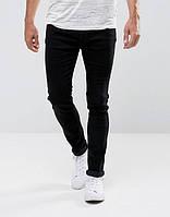 Джинси D-Struct - Black Skinny Jeans ALM (мужские черные джинсы)