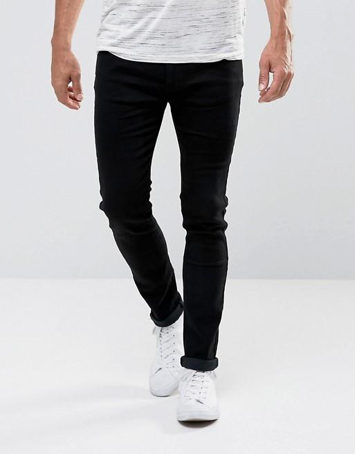 Джинси D-Struct - Black Skinny Jeans ALM (мужские узкие черные джинсы) - 3b1710c244583