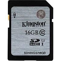 Карта памяти Kingston 16GB SDHC UHS-I Class10 (SD10VG2/16GB)