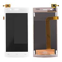 Дисплей (LCD) Fly FS451 Nimbus 1 с сенсором белый оригинал