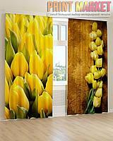 Фото шторы желтые тюльпаны