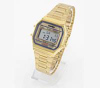 Мужские (Женские) кварцевые наручные часы Skmei 1123 Old School, золотистого цвета