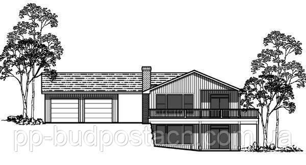 Варіант для фундаменту будинку на схилі
