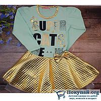 Платье с длинным рукавом Размеры: 4-5,5-6,6-7,7-8 лет (5765-1)