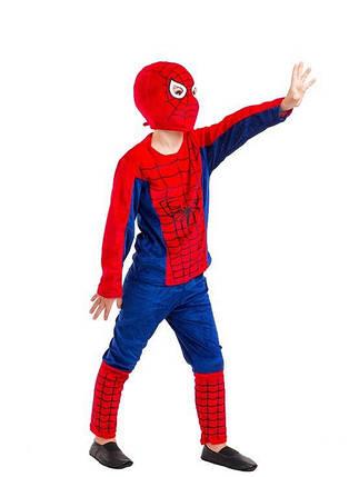 Карнавальный костюм Человек Паук в красном (велюр), фото 2