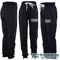 Тёплые чёрные штаны для мальчика Рост: 128,140,152,164 см (5769-2)