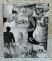 Паперовий пакет KR-531 M 1 2 3 весільний Бумажный пакет свадебный