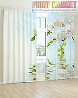 Фото шторы белая орхидея над водой