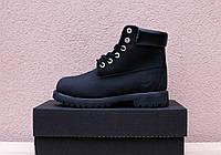 Зимние женские ботинки Timberland черные топ реплика
