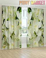 Фото шторы белые цветы