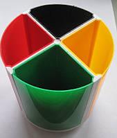 Подставка-стакан для офисных принадлежностей, 4 ячейки, пластик  №468