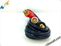 Аудио кабель Mini Jack - 2RCA   1.5M  GOLD