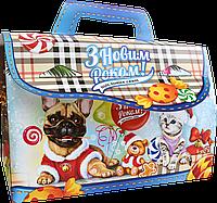 Новогодняя Упаковка Саквояж для конфет 1000 - 1300г ОПТ от 500шт