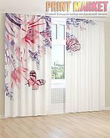 Фото шторы бабочки на цветах