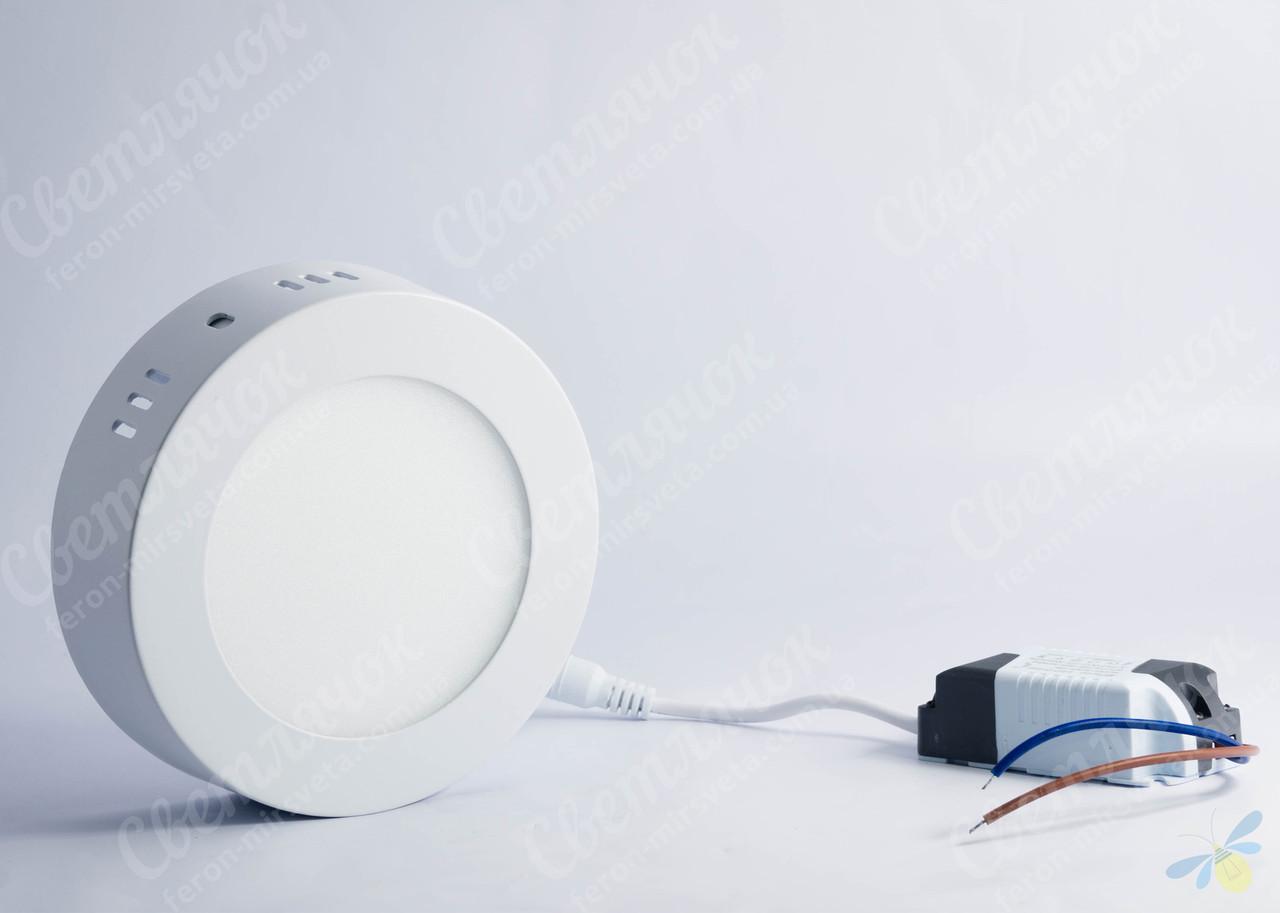 Светильник светодиодный накладной круглый 6w Feron AL504 5000К