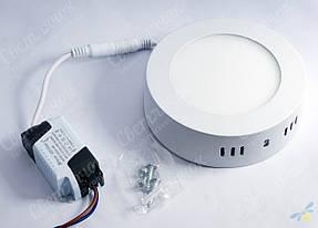 Светильник светодиодный накладной круглый 6w Feron AL504 5000К, фото 2
