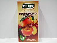 Фруктовый чай Belin с ароматом персика и манго, 20 пак.