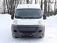 Зимняя накладка (глянцевая) Peugeot Boxer 2014- (решетка)