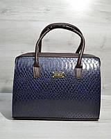 Женская сумка-саквояж WL 31126 синый