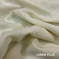 Бежевая льняная ткань 100% лен, цвет 584