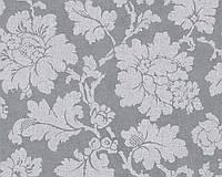 Обои монохромные с узором - цветы 305195.