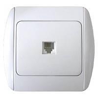 E.NEXT e.install.stand.814P1+f.cer Розетка телефонная одинарная с рамкой