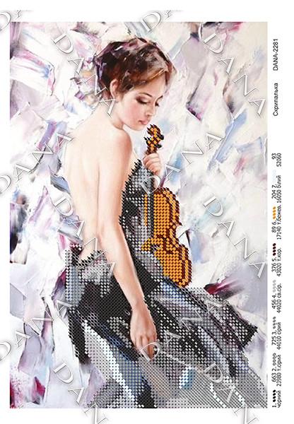 Схема для вышивки бисером Скрипачка