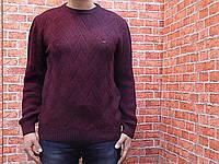 Свитер мужской, вязанный (цвет бордо) Kaptan 70034