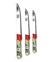 Нож кухонный с прозрачной ручкой с ромашкой в чехле 6 дюймов 22144
