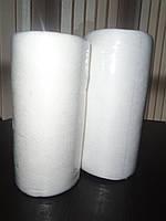 Салфетки спанлейс гладкие 23 см*20 см в рулоне с перфорацией