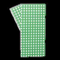 """Бумага упаковочная """"Гамбургер"""" 320*320 1000шт Зеленая клетка  (313)"""