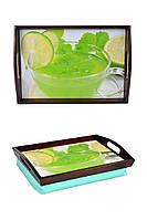 Поднос на подушке с ручками Чай с лимоном