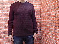 Свитер мужской, вязанный (цвет бордовый) Kaptan 70037