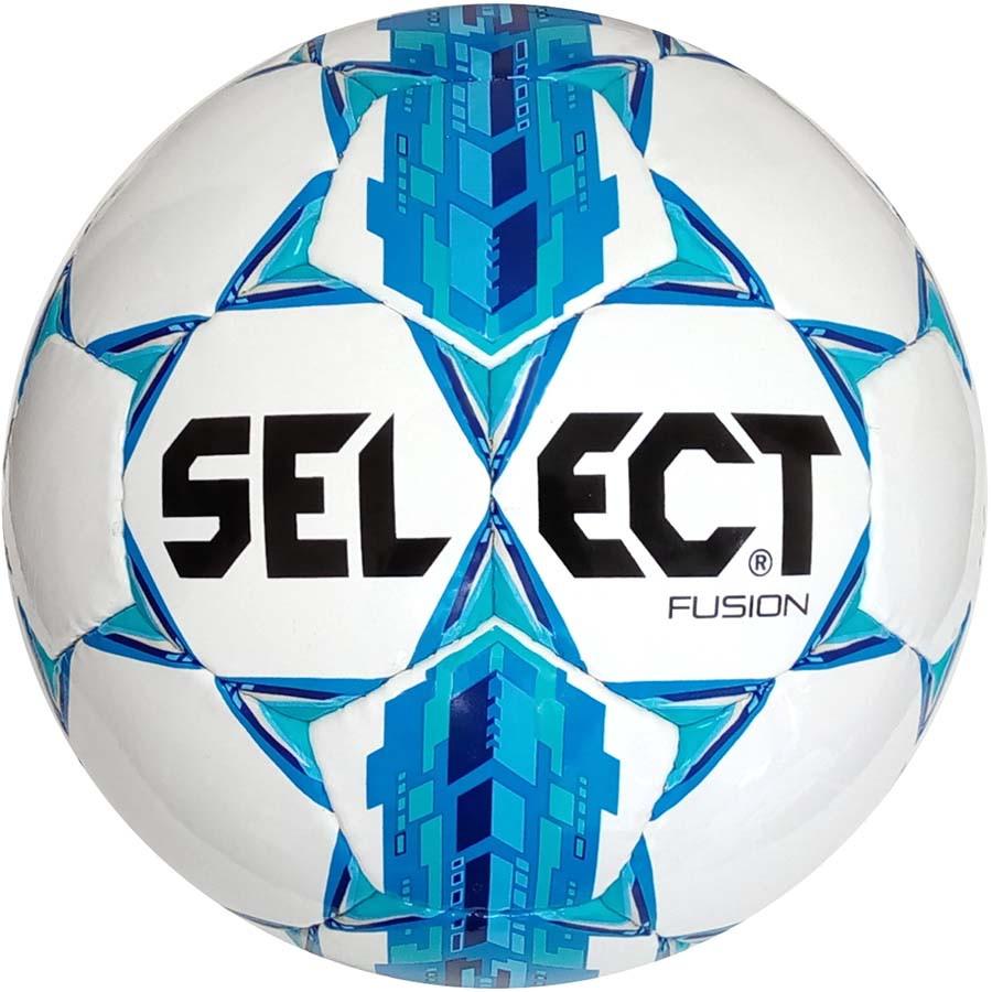 7afccf7c9eed Мяч футбольный SELECT FUSION бело синий размер 4  купить недорого с ...