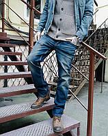 Джинсы Long Li 1140 грязная варка мужские, фото 1