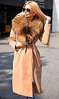 Пальто зимнее 333418-3 с натуральным мехом (днка)