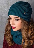 Зимний набор шапка + снуд восьмерка, фото 1