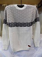 Свитер мужской зима Турция 6404 белый