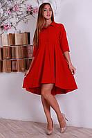 Красное платье интересного фасона