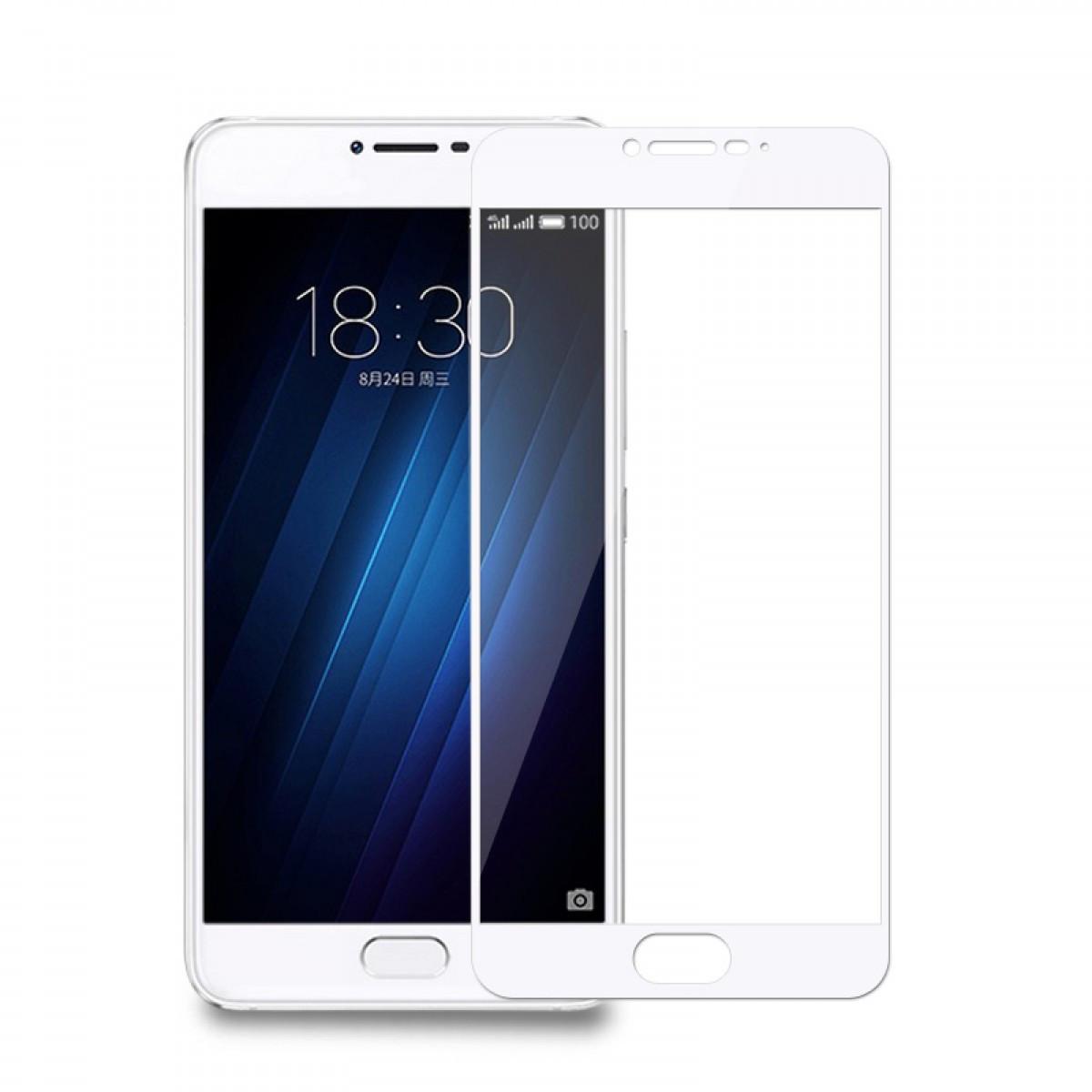 Защитное стекло Meizu U20 full cover white