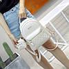 Городской женский рюкзак бежевый с кошельком, фото 2