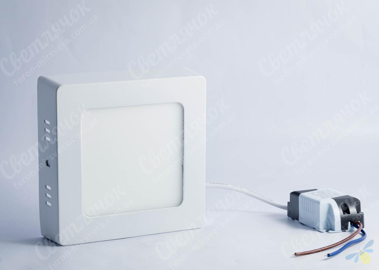 Светильник светодиодный накладной квадратный 6w Feron AL505 5000К