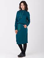 Зеленое осеннее платье свободного кроя RicaMare