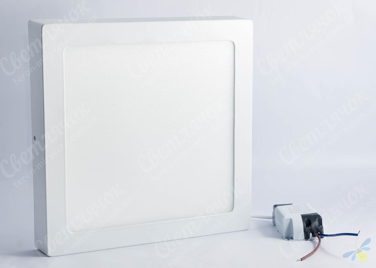 Светильник светодиодный накладной квадратный 18w Feron AL505 OL 4000К