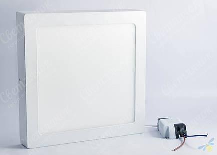 Светильник светодиодный накладной квадратный 18w Feron AL505 OL 4000К, фото 2